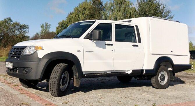УАЗ фургон с двухрядной кабиной