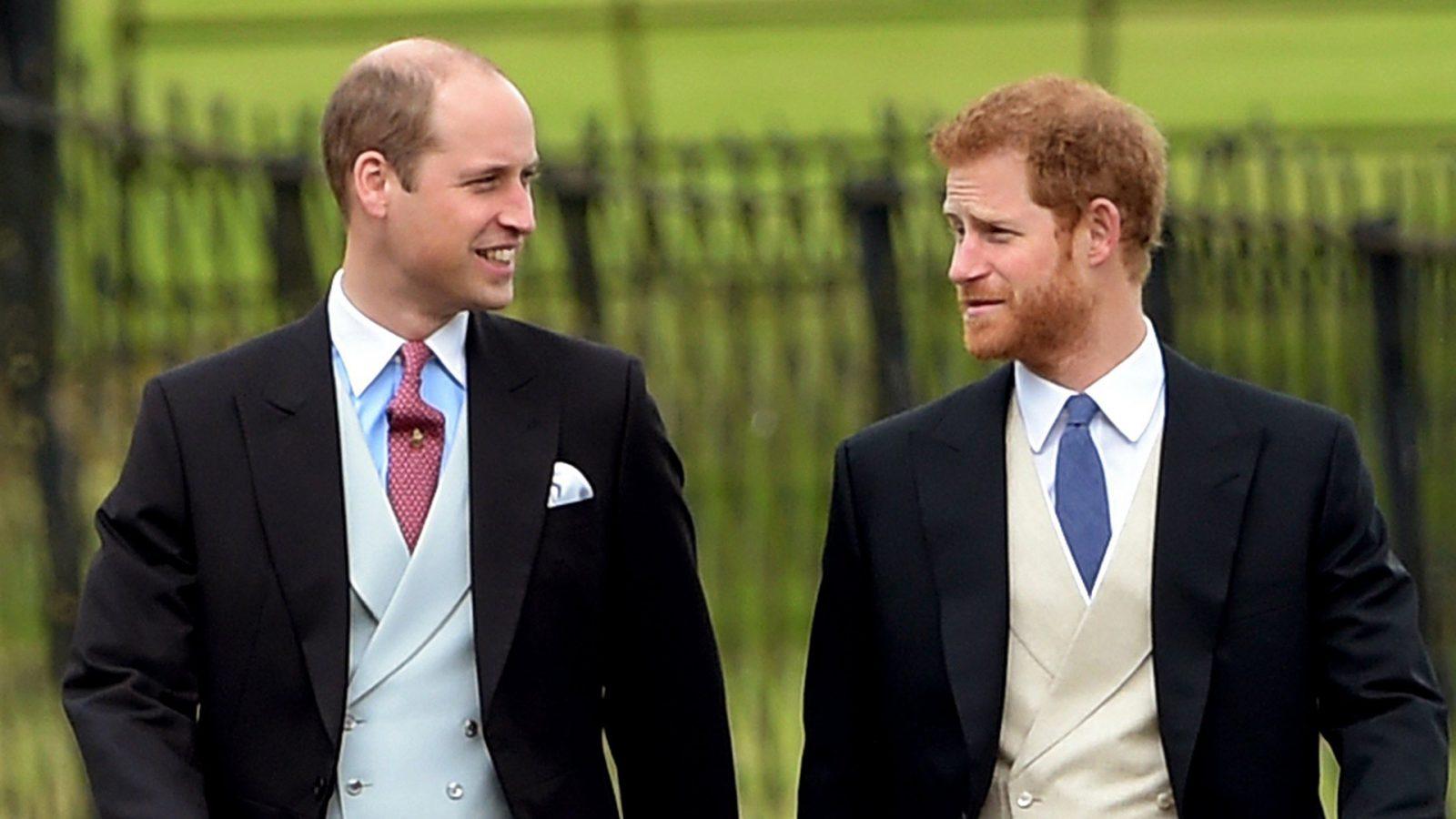 Принцы Уильям и Гарри