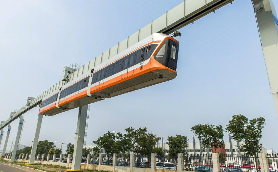 подвесная железная дорога в Китае