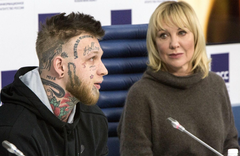 Елена Яковлева с сыном Денисом